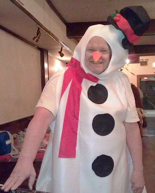 Photo: Ellen Lindstrom Olaf was on hand to help people with Consentino's ice fishing game. If Olaf can embrace winter, surely anyone can.