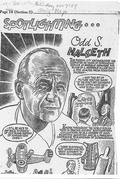 Photo: courtesy of University of Arizona A spotlight on Odd Halseth printed in the Nov. 7, 1954, edition of The Arizona Republic.
