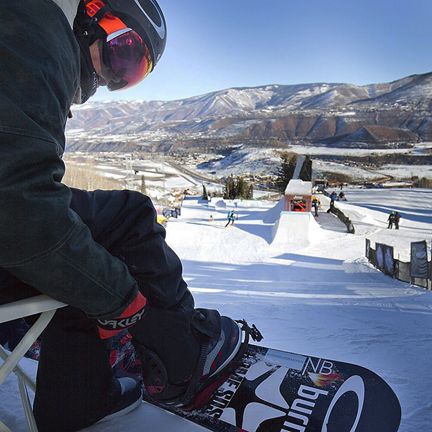 Photo: Ståle Sandbech / Facebook Sandbeck prepares for qualifiers at the Winter X Games.