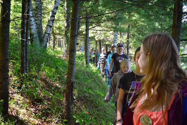 Photo: Valerie Borey Hikes in the woods are a magical experience at Skogfjorden.