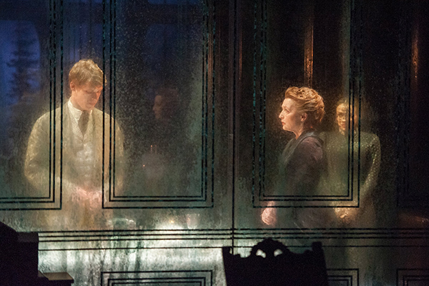 Photo: Stephanie Berger / BAM Along with an updated translation of Ibsen's original text, a translucent set making for ghostly reflections and interplays marked this stunning production of Ghosts.