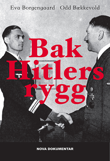 """Photo © Copyright: """"Bak Hitlers rygg,"""" Nova Forlag, 2014  The cover of the book shows Reinhard Hardegen being decorated by Hitler in April 1942. Having already realized that Hitler was a madman, but unable to desert his post for fear of reprisal against his family, all he could do was quietly arrange for the rescue of Allied sailors whose ships he sunk, as was a not-uncommon practice among submarine captains."""