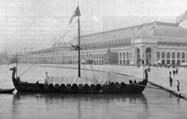 Photo: Wikimedia Commons  Viking at the 1893 World's Fair in Chicago.
