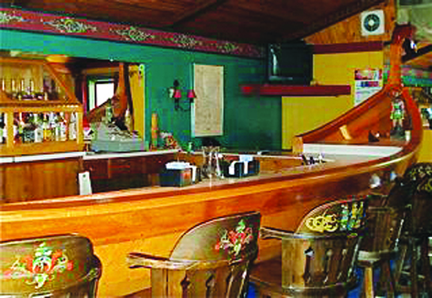 Photo courtesy of Mary Andersen Another view of the Viking Ship Bar.