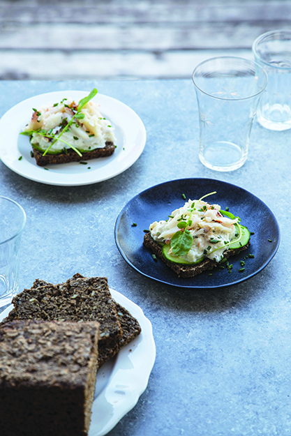Photo: Maria Stordahl Nelson For a simple, refreshing summer meal, a simple open-face sandwich can't be beat.