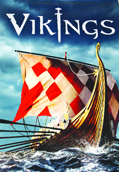 Photo: Arthur Andersen  The poster for the Vikings exhibit currently on display in Chicago.