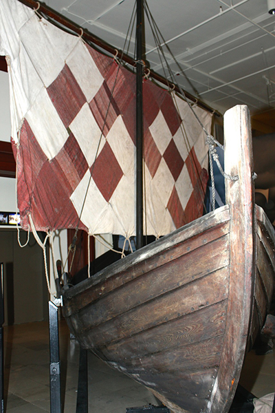 Photo: Arthur Andersen  A Viking ship that's a part of the collection.