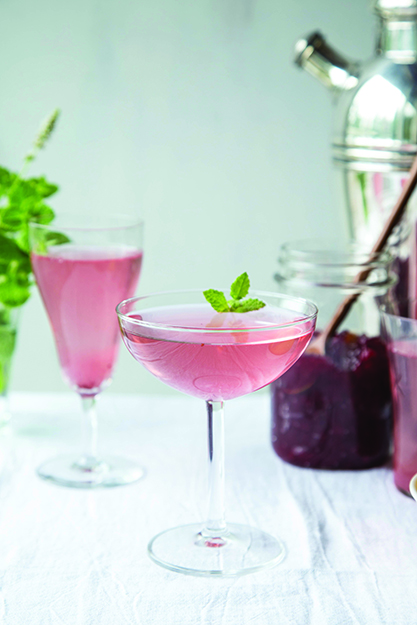 Photo: Maria Stordahl Nelson The classic French 75 gets a Nordic twist with this Lingonberry Mint Cocktail.