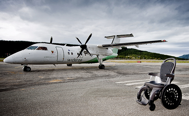 Photo courtesy of EasyRoller The wheelchair is already delivered to several major airports in Norway and Europe.