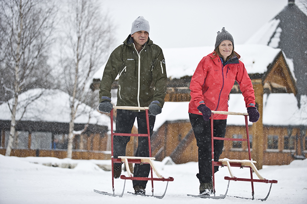 Photo: Terje Rakke / Nordic Life / Visitnorway.com Sparks make it infinitely easier to get around on snow- and ice-covered pathways.