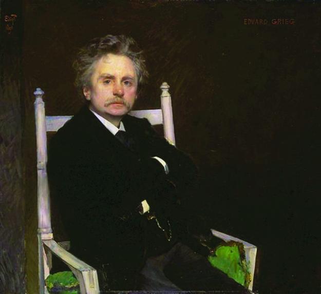Photo: public domain Portrait of Edvard Grieg in 1891 by Norwegian artist Eilif Peterssen.