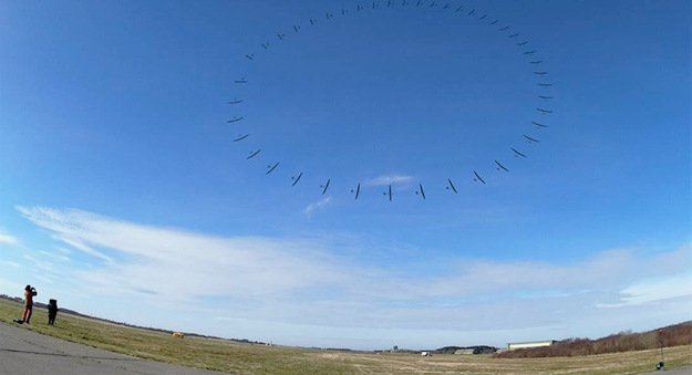 Photo courtesy of Kitemill Kitemill looping during power production in Lista, Norway. This composite photo shows the path of the kite in a crosswind.