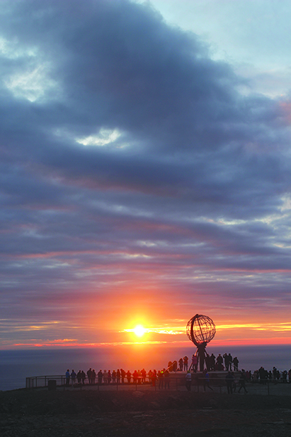 "Photo: Andrew P. Sykes / Cyclingeurope.org Sykes's trip to Nordkapp ""was about as challenging as a long-distance cycle through Europe could get,"" but he was thrilled to reach the continent's northernmost point in time to see the midnight sun."