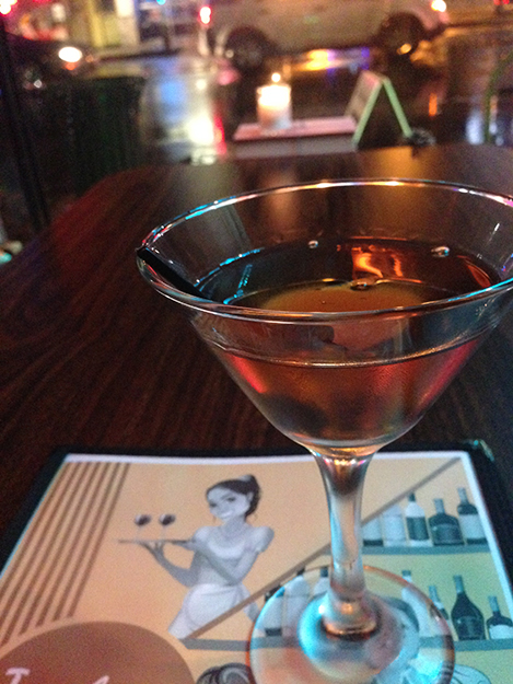 Photo: Lexi / Old Ballard Liquor Co. The Negroouni, a Teachers Lounge creation made with Heldig's Own Aquavit, Gran Classico, Punt e Mes, and Peychaud's Bitters.