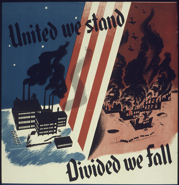 Photo: Wikimedia Commons Propaganda from World War II.