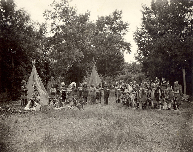Photo: Douglas County Historical Society A 1938 historical pageant re-enactment of the imagined encounter between Vikings and American Indians.