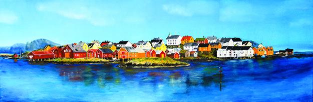 "Landscape painting, ""Bjørnsund,"" courtesy of Møyfrid Hveding"