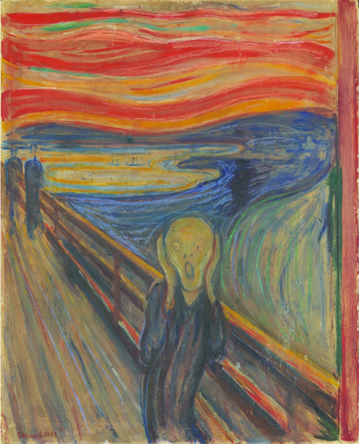 "Photo: The National Gallery collections, Oslo Edvard Munch's painting, ""Scream."""