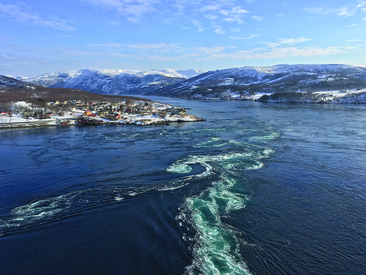 Photo: David Nikel Saltstraumen, the narrow straight near Bodø that's world-famous for its strong tidal current. Take a boat tour to experience the power of the ocean for yourself four times a day.