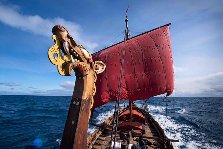 Photo: Peder Jacobsson Draken Harald Hårfagre sailing outside Iceland.