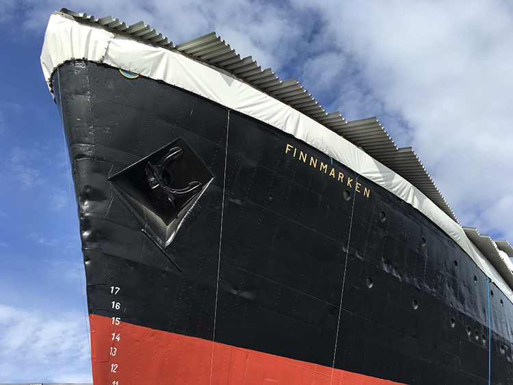 Photo: David Nikel The Hurtigruten museum at Stokmarknes features the original MS Finnmarken.