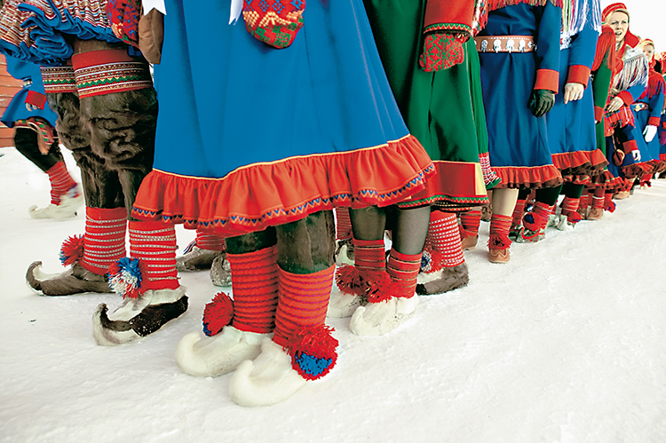 Photo: Karin Beate Nøsterud / norden.org Colorful gákti are undeniably cute, but wearing meaningful garb from another's culture without permission is cultural appropriation. It cheapens these garments to wear them simply because one likes the way they look.