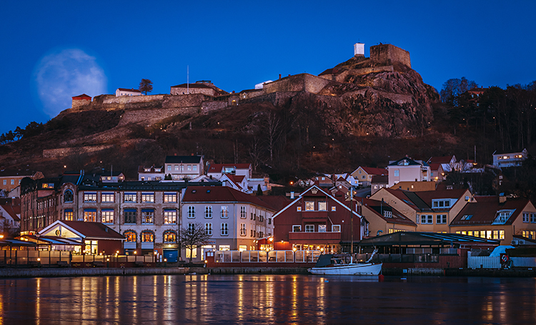 Photo:  Joni Räsänen / Flickr Halden by night. It's a small but picturesque town.