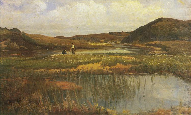 "Images: Public domain / Wikimedia Commons ""Fra Jæren,"" one of Kielland's many landscape paintings."