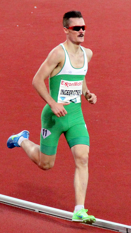 Photo: Chell Hill / Wikimedia Commons Henrik Ingebrigtsen competing at the 2012 Bislett Games.