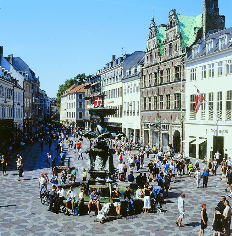 Photo: Cees van Roeden / courtesy of Wonderful Copenhagen Amagertorv, on one of the world's longest pedestrian streets, is an old neighborhood filled with modern design.