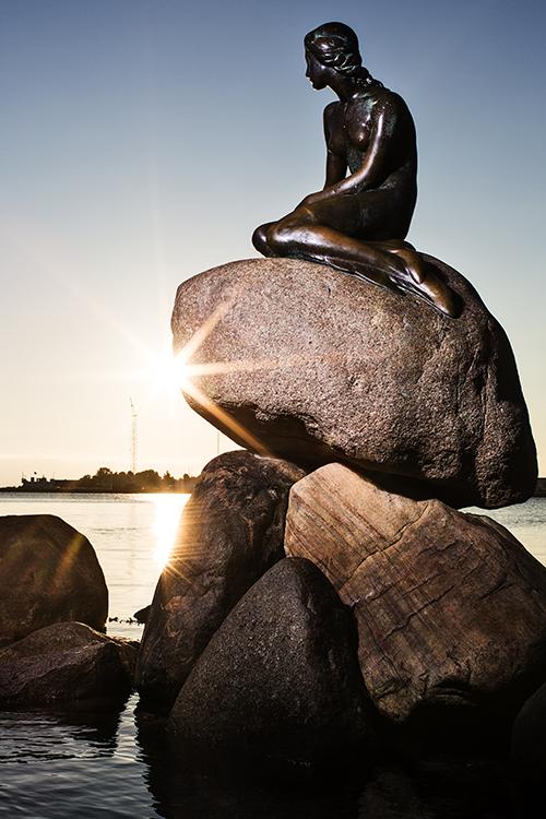 Photo: Rasmus Flindt Pedersen / courtesy of Wonderful Copenhagen The sculpture of The Little Mermaid at Langelinje Pier was sculpted by Edvard Eriksen as a gift to the city from Danish brewer Carl Jacobsen.