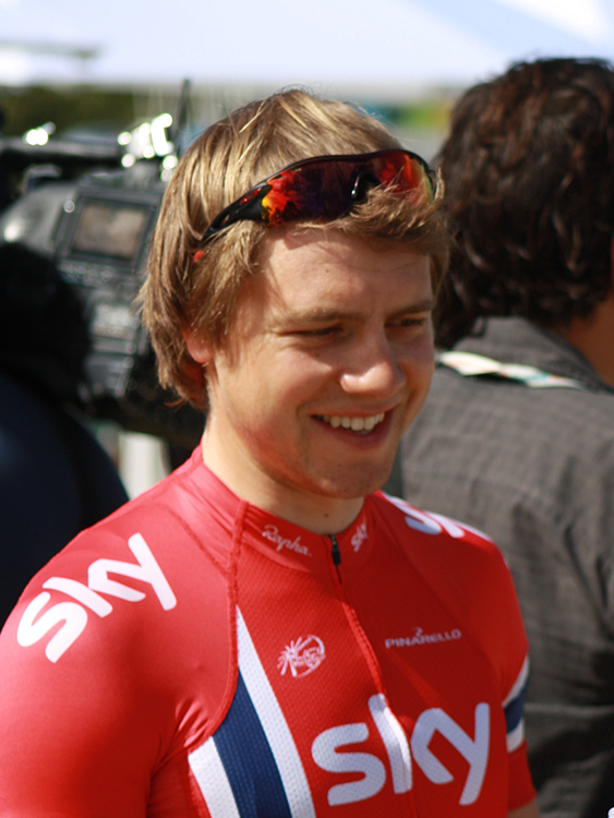 Photo: EBH / Wikimedia Commons Edvald Boasson Hagen at the 2013 Tour Down Under.