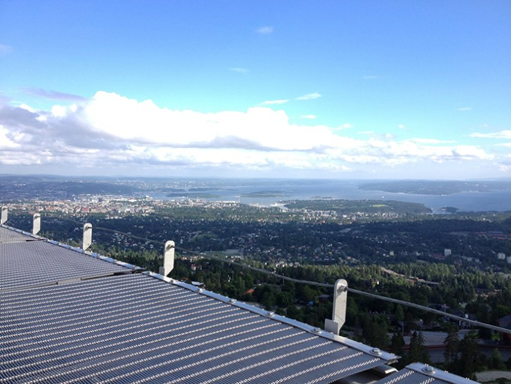 Photo: Emily C. Skaftun From the top of Holmenkollen you can see all of Oslo, looking shockingly far away.