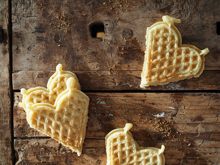 Photo: Nevada Berg Waffles are delicious on their own, but they're even better with ice cream.