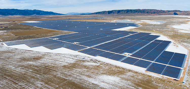 Photo courtesy of Scatec Solar One of Scatec's projects, the Utah Red Hills Renewable Park.
