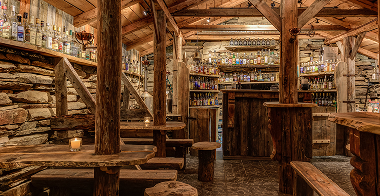 Photo courtesy of Spidsbergseter Resort Rondane Inside the akevittfjøs, a world of aquavit.