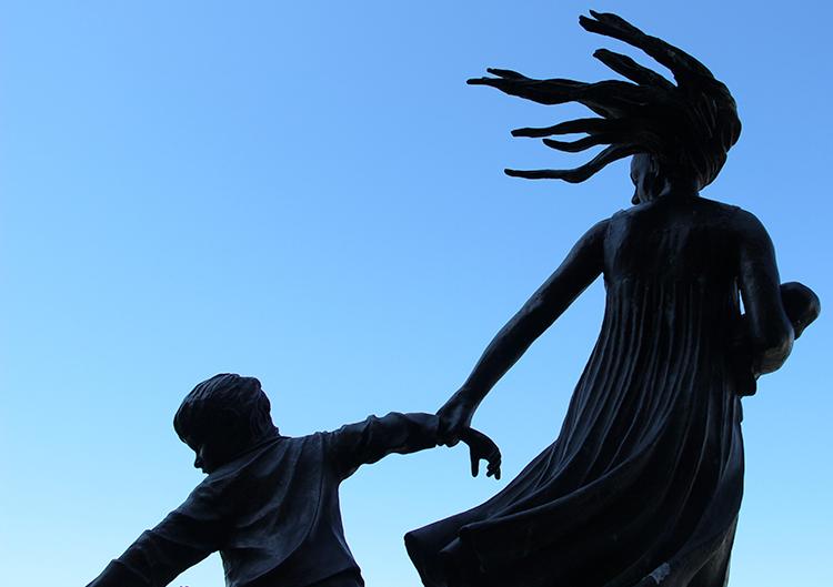 Photo: Ilan Kelman The Oslo memorial to the Scandinavian Star ship fire.