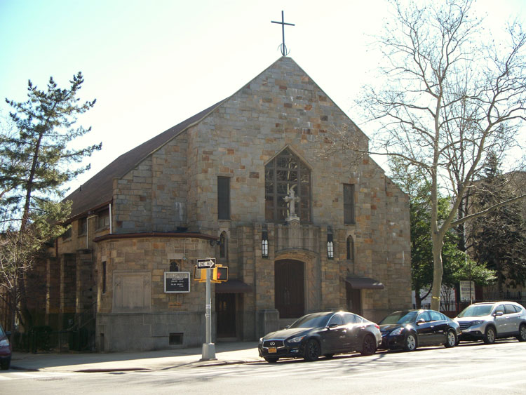 Our Saviour's from the outside. The church has been at its current location since 1930. Photo courtesy of Our Saviour's