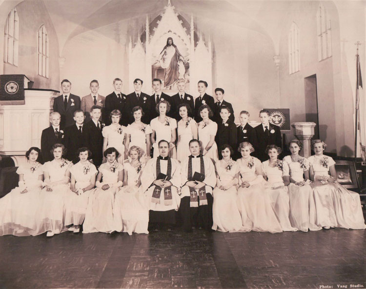 A confirmation photo from 1951. Photo courtesy of Our Saviour's