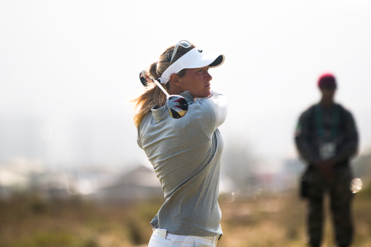 Photo: Norges Idrettsforbund / Flickr Norwegian golfer Suzann Pettersen uses Swing Catalyst to improve her game. She is shown here using that swing at the Rio Olympics.