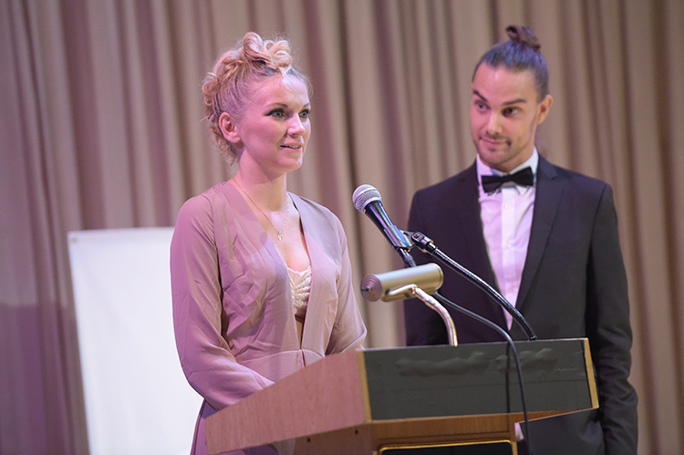 Photo courtesy of NIFF Festival founders Linnea Larsdotter and Johan Matton at this year's awards ceremony.