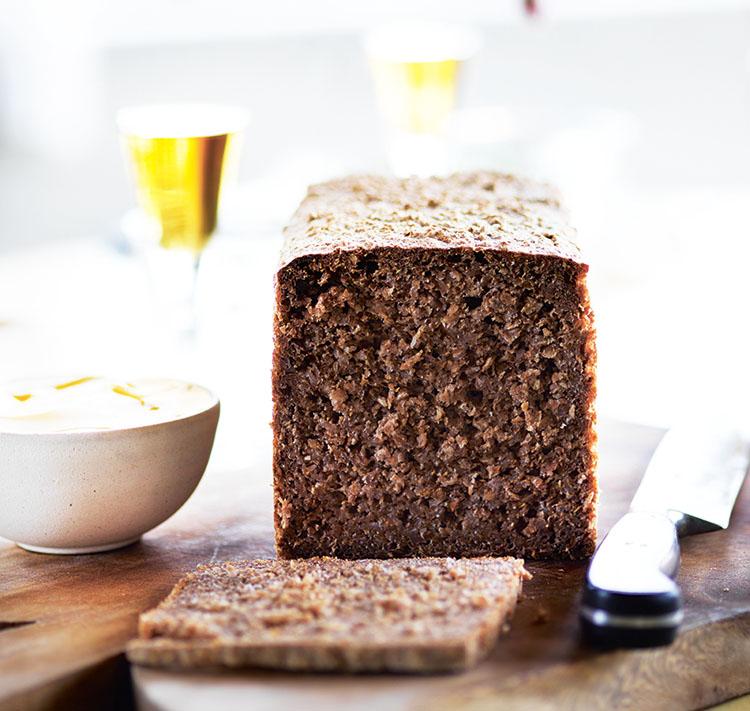 A rye bread loaf