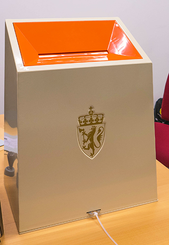 Norwegian ballot box.