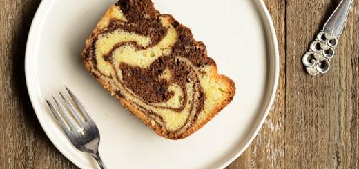 A slice of tiger cake.