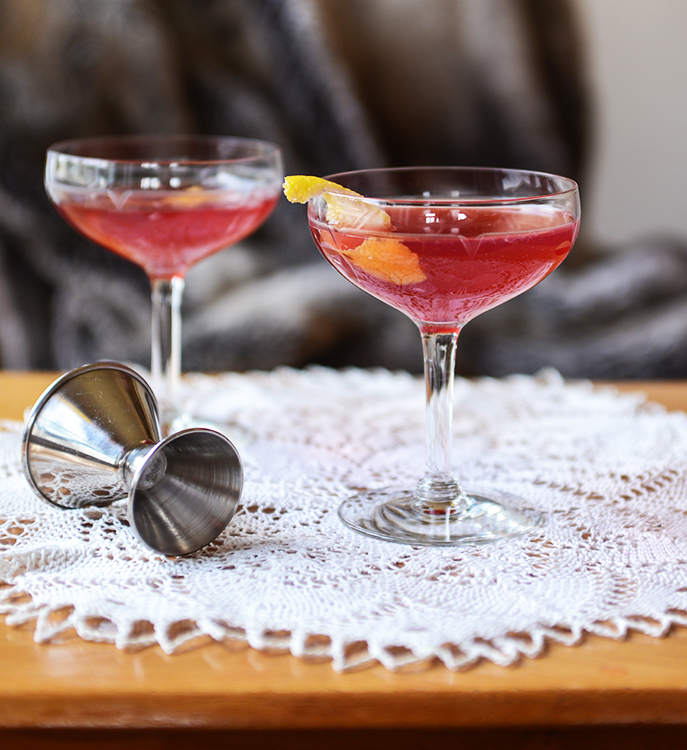 Two cocktails.