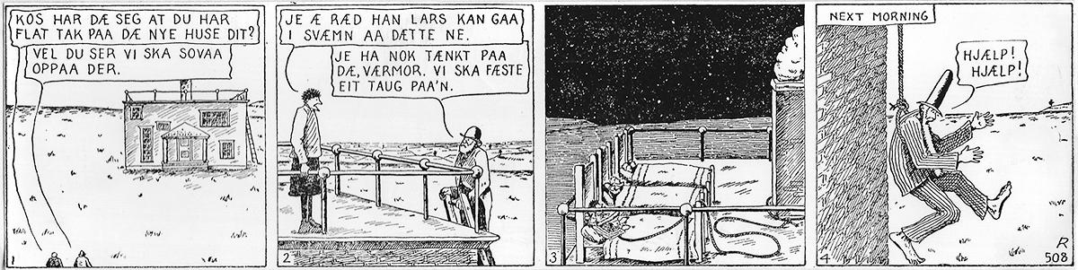 Han Ola og Han Per comic. Text below.