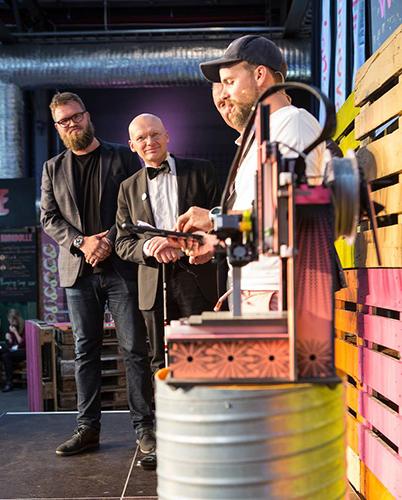 The team receiving the award.