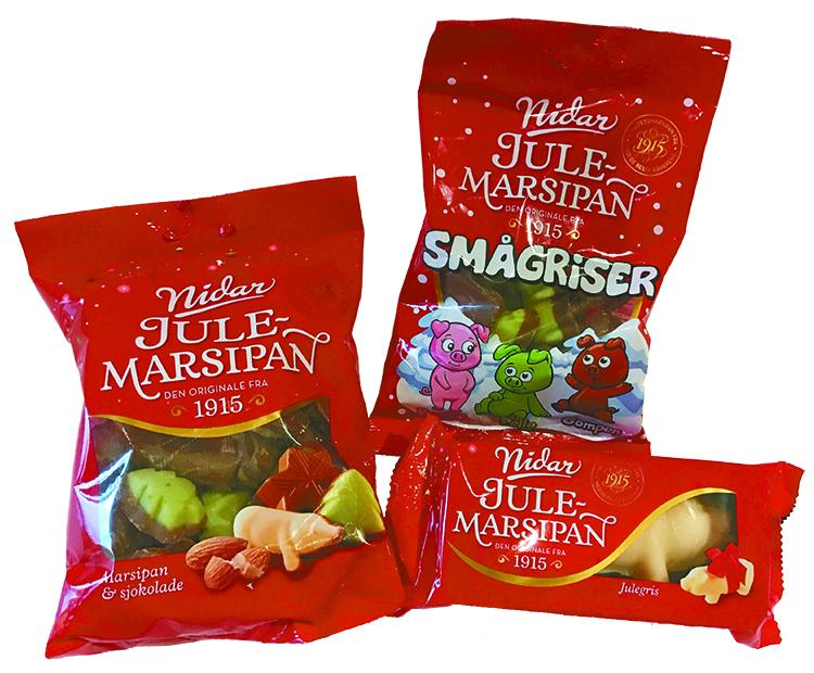Norwegian marzipan pig candies.