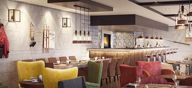 Hurtigruten hybrid ships: dining room
