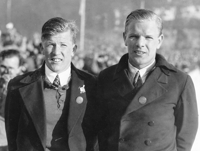 Norwegian Winter Olympic medals: Birger and Sigmund Ruud
